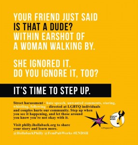 A Hollaback poster makes it clear how insidious street harassment is.