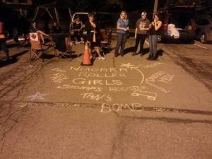 Niagara Roller Girls Chalk drawing
