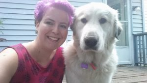 Me & my somewhat-obedient Great Pyrenees